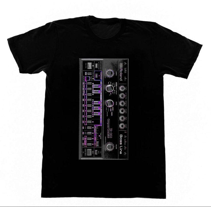 >> Click to Buy << Roland 303 - Shirt 41 Acid EDM Skool Rave House Music Vintage Synthesizer Moog T Shirt Men Casual Cotton Short Sleeve T-Shirt #Affiliate