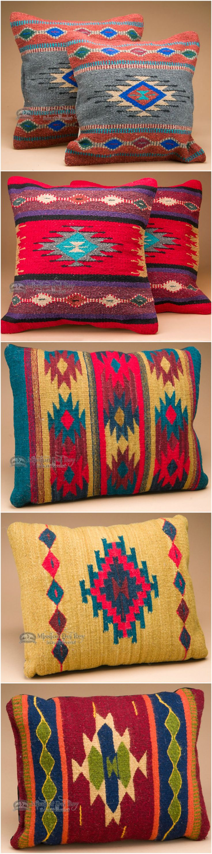 If you like southwest style and rustic decor, you will love the designs and colors of our southwest pillows. Rustic couch pillows are a great way to match western decor or Santa Fe style, and for adding some color to your rustic home decor. Check out our