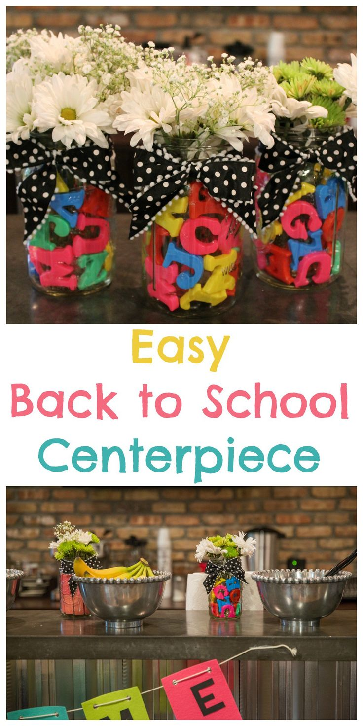 Easy Back to School Centerpiece - such a cute gift for a teacher!