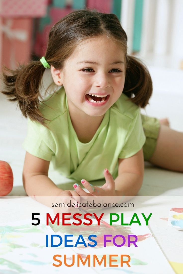 5 Messy Play Ideas for Summer