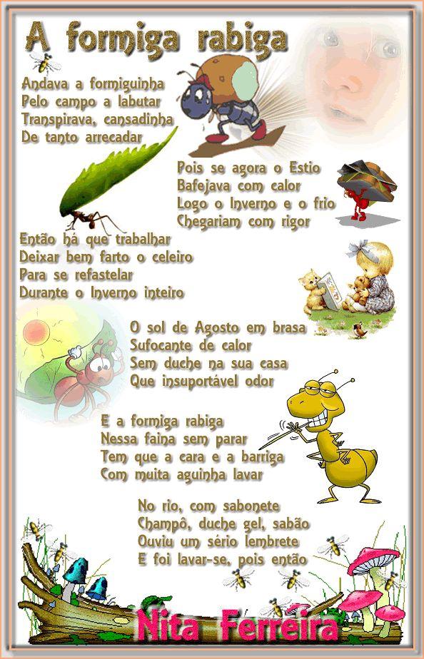 Nita Ferreira Poesia Infantil: A formiga rabiga                                                                                                                                                                                 Mais