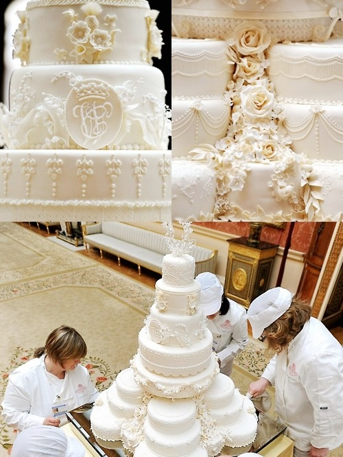 Kate and William's wedding cake...oh my. Now that's a wedding cake!