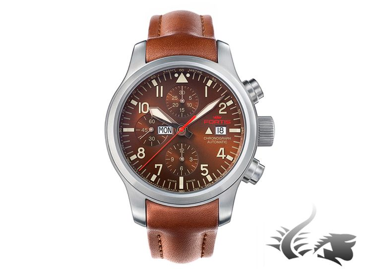 Fortis Aeromaster Dawn Chronograph Automatic Watch, ETA 7750, Brown | Iguana Sell