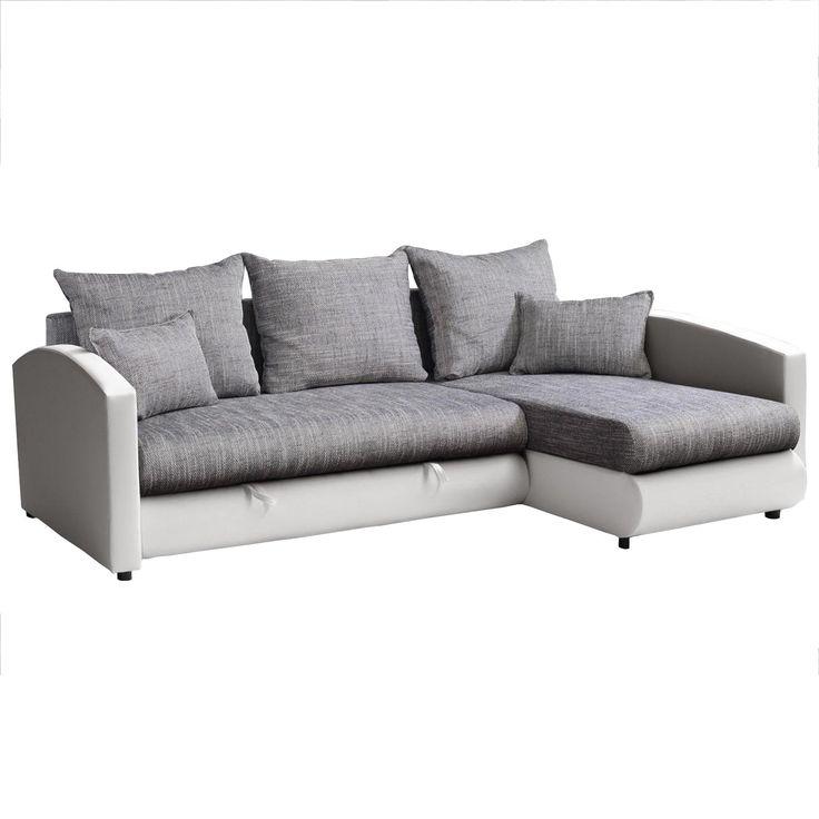 17 best ideas about ecksofa weiß grau on pinterest | wohnzimmer ... - Wohnzimmer Couch Weis Grau