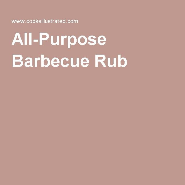 All-Purpose Barbecue Rub