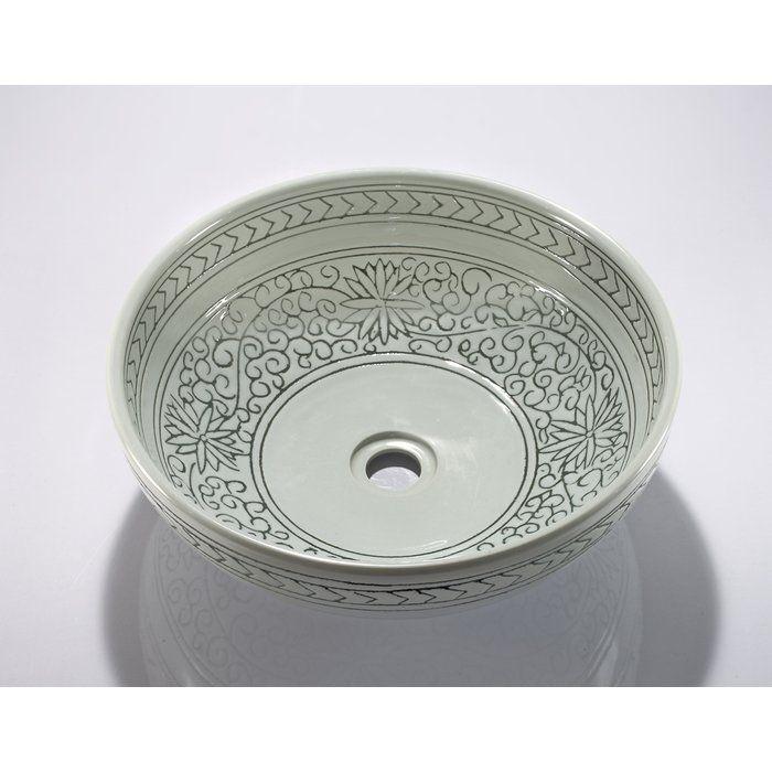 Circular Vessel Bathroom Sink Sink Pedestal Sink Porcelain Sink