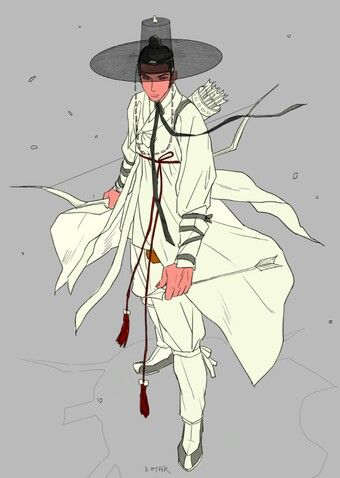 Hanbok illustration, inspiration for my fantasy series Nine Tails which is based on Korean myth