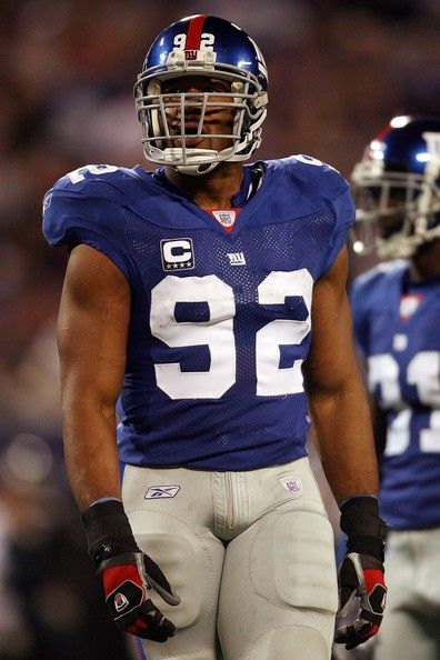 Michael Strahan, New York Giants-I miss him I wish he still played!!! ~ my son's injured knee, no School Insurance offered, my son's MERSA(when his next door locker mate had it first, whose mother was doing RN school rounds to hospitals & clinics. Yet, I was stigma as filthy mom. She called the hospital with a chuckle how is he doing) ~