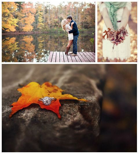 Autumn Engagement Pictures on http://itsabrideslife.com