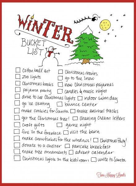 2013 Winter Bucket List