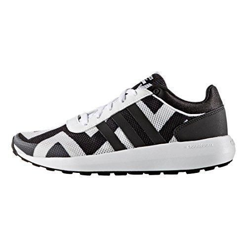 adidas NEO Women\u0027s Cloudfoam Race W Running Shoe White/Black/White 7 ...