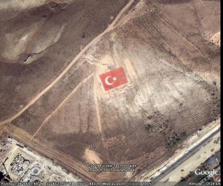 Dessin drapeau, Ankara, Turquie