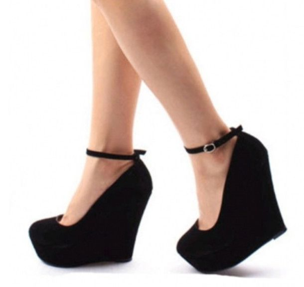 1000 Ideas About Black Wedge Shoes On Pinterest Black