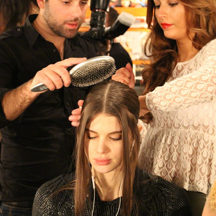 The Charlotte Ronson #NYFW show 2014. #OliviaGarden #BeautyTools