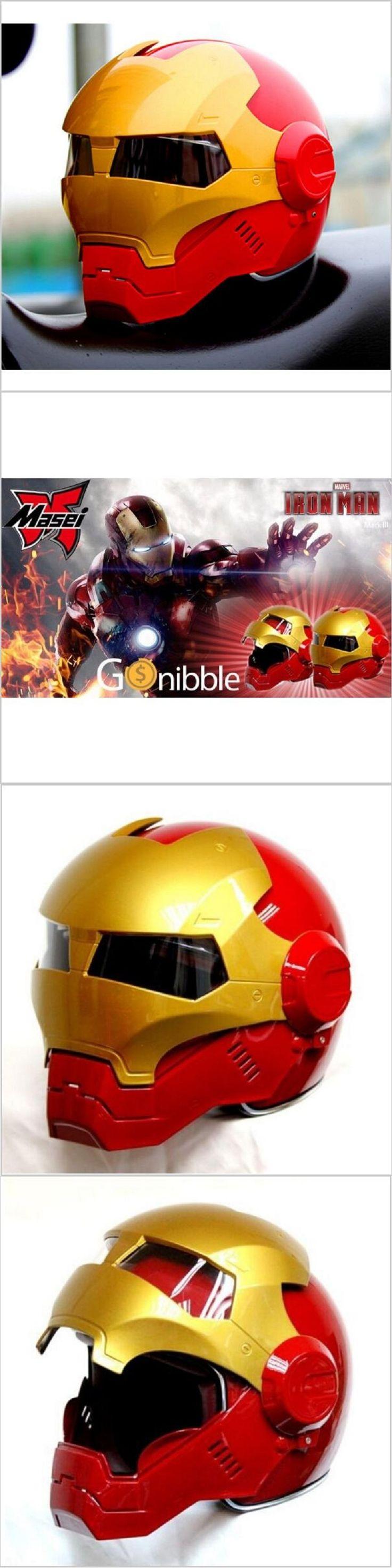Masei ktm bike scooter moto Red golden Classic iron man helmet motorcycle helmet half helmet open face helmet casque motocross