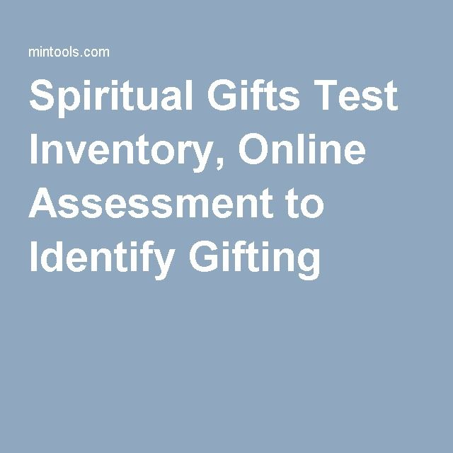 Spiritual Gifts Test Inventory, Online Assessment to Identify Gifting