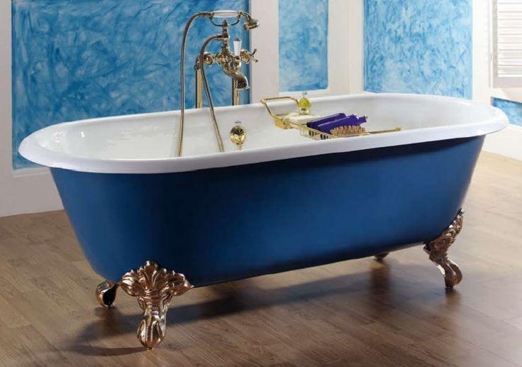 KSB0001 Dual klassiek vrijstaand gietijzeren bad op pootjes / badkuip | Design vrijstaande ligbaden | Klassiek Sanitair / Complete design landelijke badkamers.
