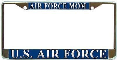 Air Force License Plate Frame Black