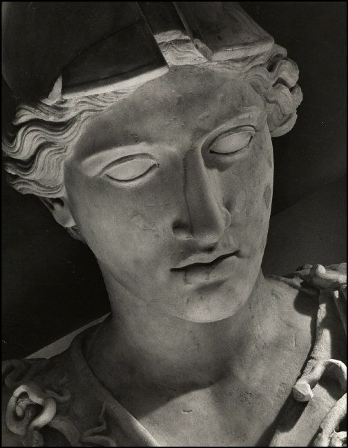 Herbert List - GREECE. Athens. 1937. Head of Pallas Athena.