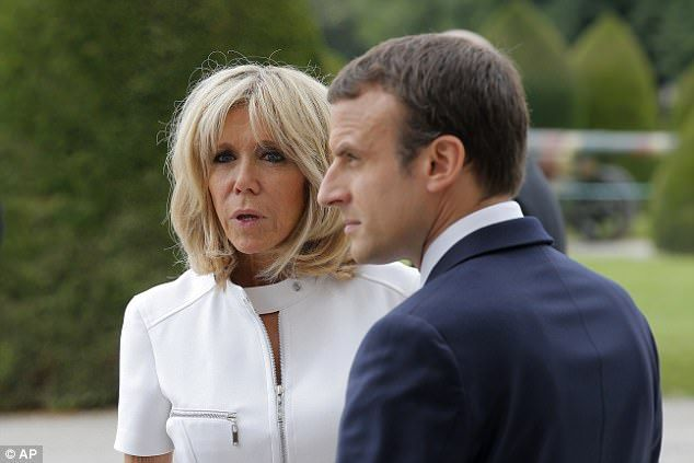 Brigette joined husband President Emmanuel Macron to welcomed the US President and First Lady ahead of Bastille Day Read more: http://www.dailymail.co.uk/femail/article-4693326/Brigette-Macron-welcomes-President-Trump-Paris.html#ixzz4mlOWG800 Follow us: @MailOnline on Twitter | DailyMail on Facebook
