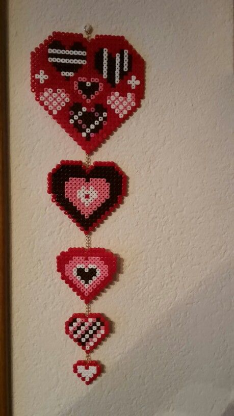 Cuori hama beads