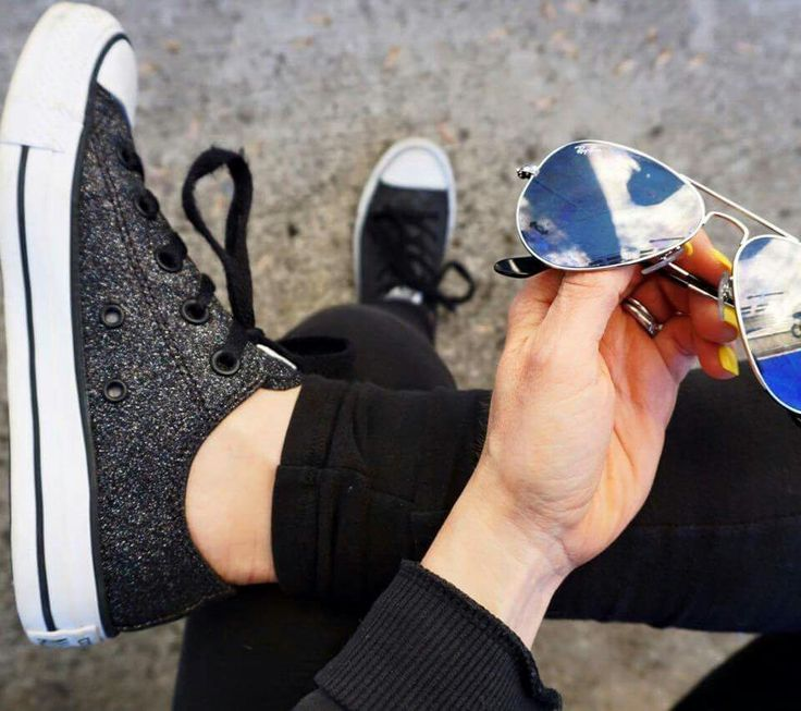 Black glitter converse, say what?!? Need! Absolute wardrobe staple