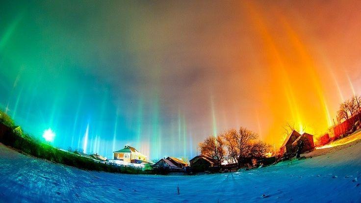 Impresionantes fenómenos naturales dan la bienvenida al año nuevo en Rusia