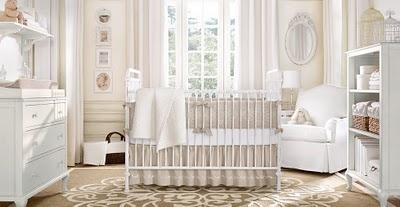 So sweet and simple: Babies, Restoration Hardware, Baby Rooms Design, Neutral Nurseries, Nurseries Design, Girls Nurseries, Nurseries Ideas, Babies Rooms, Baby Nurseries