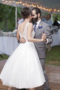 Robe de mariée mi-longue