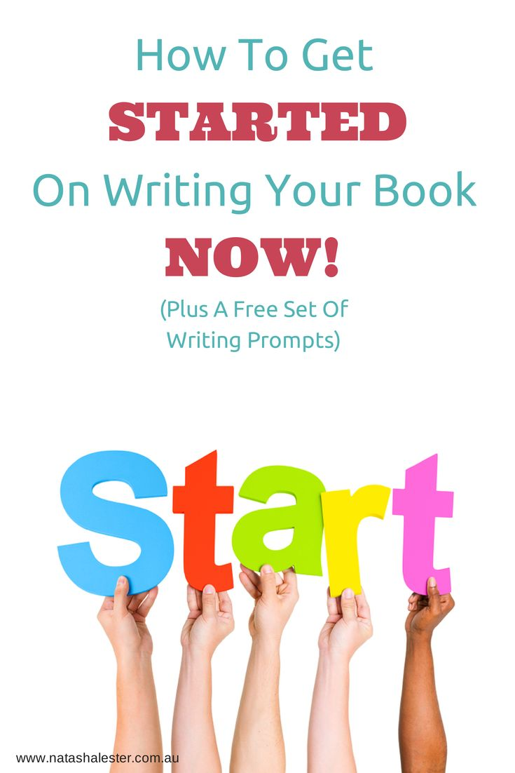 Start Writing A Book Now!