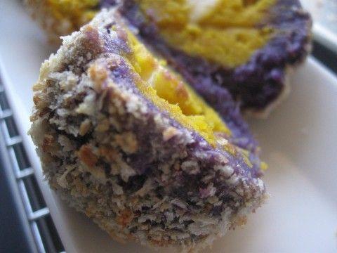 Baked Purple Sweet Potato & Pumpkin Croquette(오븐 고구마& 호박 고로케 )