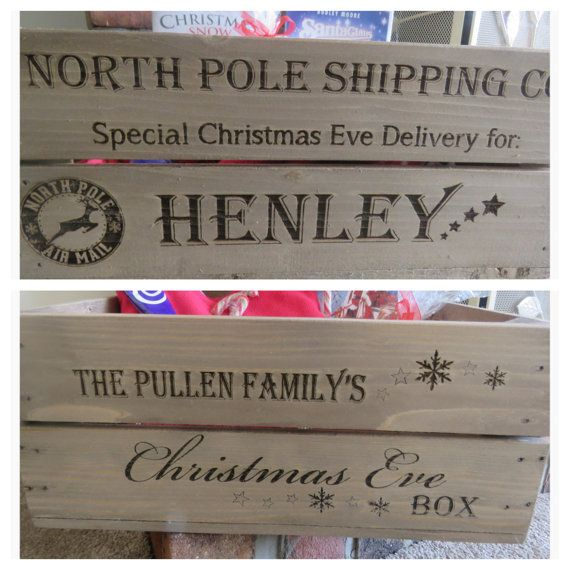 Personalised Christmas Eve Box Engraved by Applecratescouk on Etsy