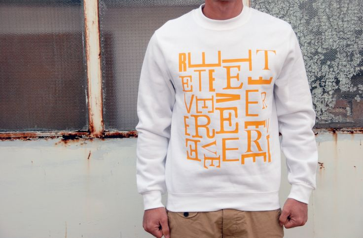 Sweatshirt Color: White 80% Cotton 20% Polyester Design: Typo - Teever