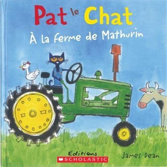Accompagnez Pat le chat à la ferme en chantant l'interprétation stylée de la chanson classique pour enfants  Dans la ferme de Mathurin . Les enfants adoreront chanter hiya hiya ho! avec Pat le chat.