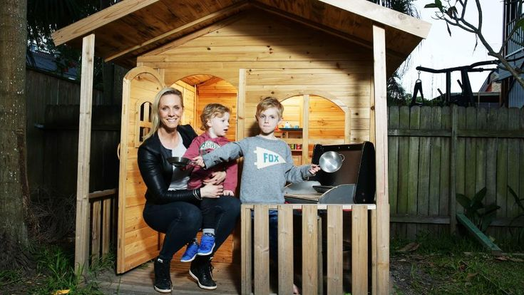 Digital expert Kristy Goodwin is speaking at a seminar at Bondi Pavilion on Wednesday. Pictured with her two boys Taj 5, and Billy 2. Picture: Braden Fastier