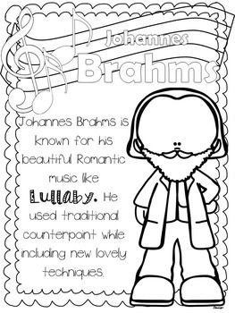 ROMANTIC COMPOSERS COLORING SHEETS - TeachersPayTeachers.com