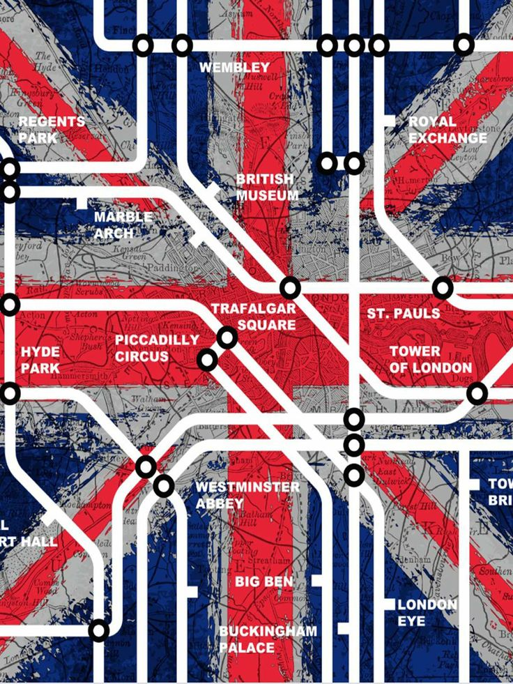 London Tube Stations Wallpaper by Muriva