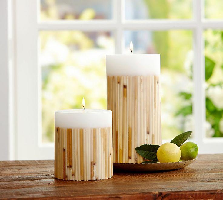 Botanical Pillar Candle - Citron Gingermint     Pottery Barn Australia