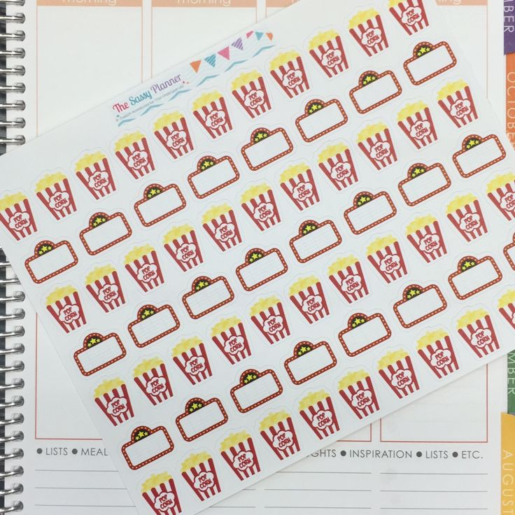 H5 Movie night date night movies stickers for Erin Condren Life Planner/Plum Planner - set of 64 by TheSassyPlanner on Etsy https://www.etsy.com/listing/229894302/h5-movie-night-date-night-movies