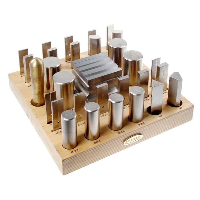 I love this set.  The forming tools come in handy for many different forming situations like squaring ends, re-rounding a ring, flattening a warped bezel back.  Nancy LT Hamilton.  30 Piece Forming Tool & Block Set by Pepe Tools