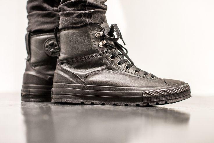 CONVERSE CHUCK TAYLOR TEKOA HI BLACK/BLACK  available at www.tint-footwear.com/converse-chuck-taylor-tekoa-hi-149379c  Converse Chuck Taylor Tekoa Hi black leather sneakers boot sneakerboot chucks tint footwear studio munich