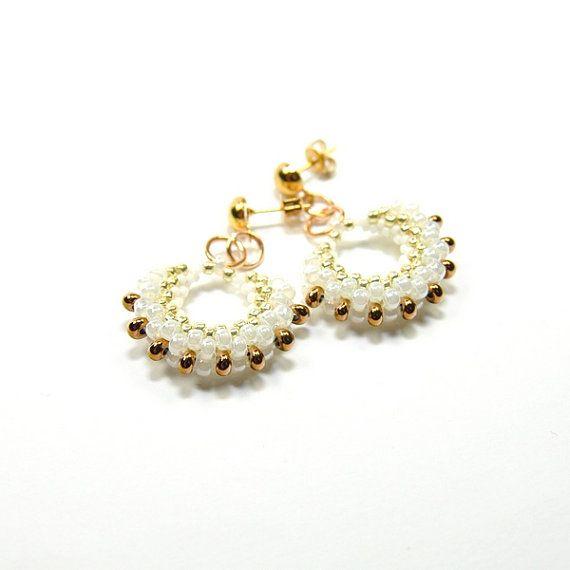Beaded earrings. Seed bead earrings. Seed bead by ArtStyleBizu