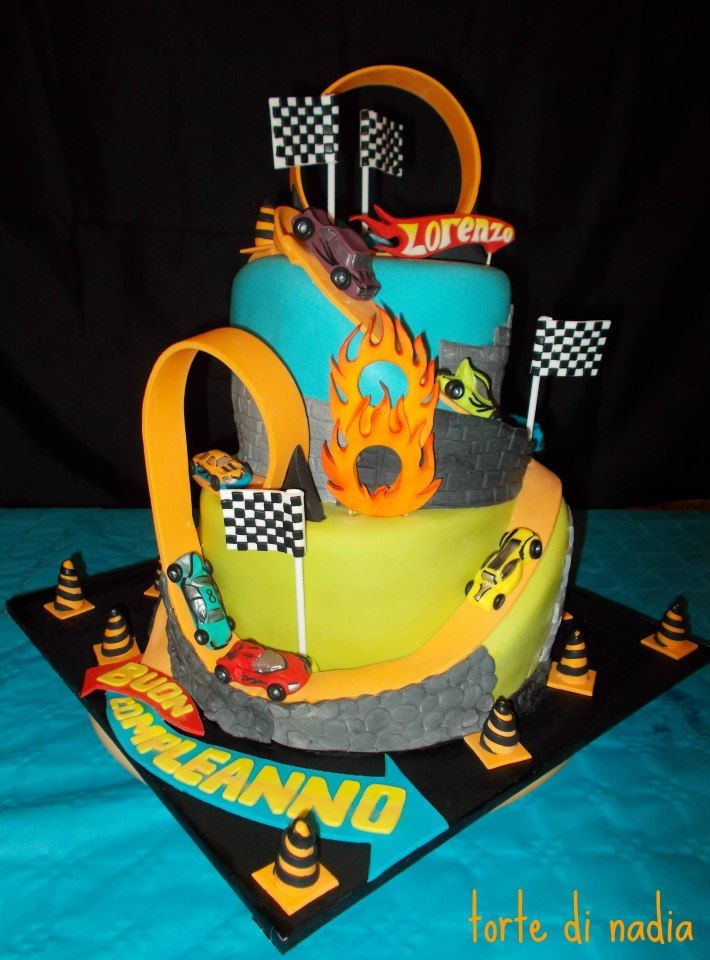 Images Of Hot Wheels Cake : Hot Wheels Cake by Torte di Nadia ? Let Us Eat Cake ...