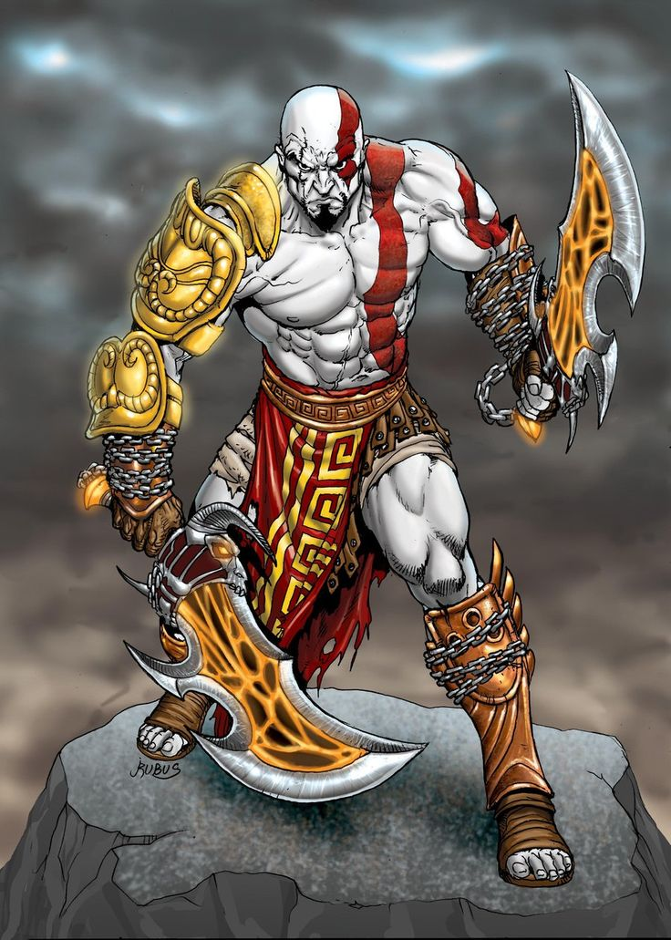 Kratos, God of War by RubusTheBarbarian.deviantart.com