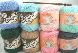 Do it Yarns: Sugar 'n Cream Yarn vs. Peaches & Crème Yarn