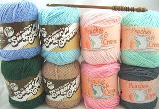 Do it Yarns: Sugar 'n Cream Yarn vs. Peaches & Crème Yarn
