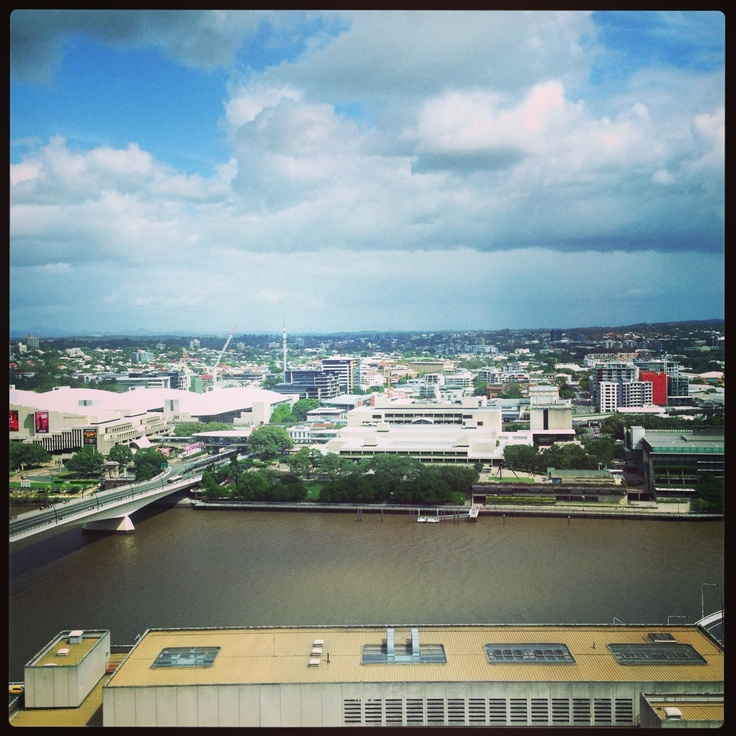 Brisbane River - looking across at QPAC, library, art gallery and GOMA