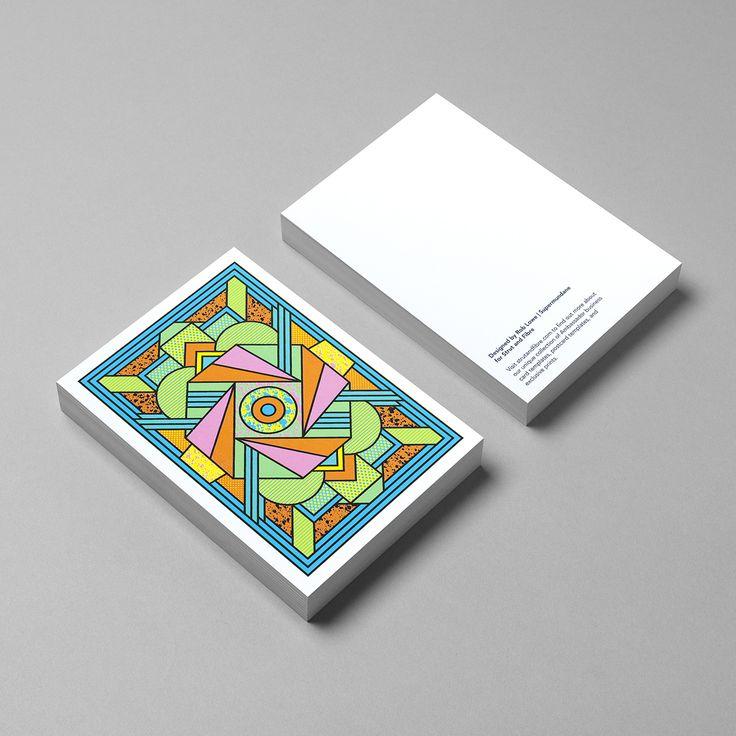 Postcard template designed by Supermundane for Strut and Fibre's Ambassador Collection.
