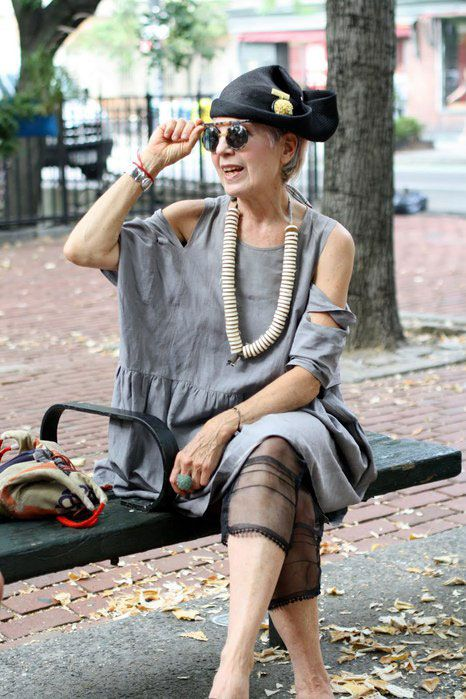 I think I shall begin to dress like this!  I would love to meet this lady!   So would I @Marie Myrick