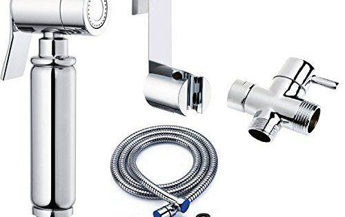 BbfStyle – Élégance,Design et Qualité – Kit douchette bidet WC avec vanne d'arrêt 3 voies – Douchette pour l'hygiène intime – Très Haute…